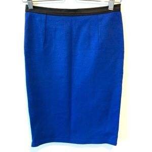 Divided by H&M | blue pencil skirt with zipper